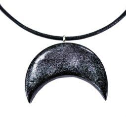 Gothic Halskette Black Moon Stardust - Zoom