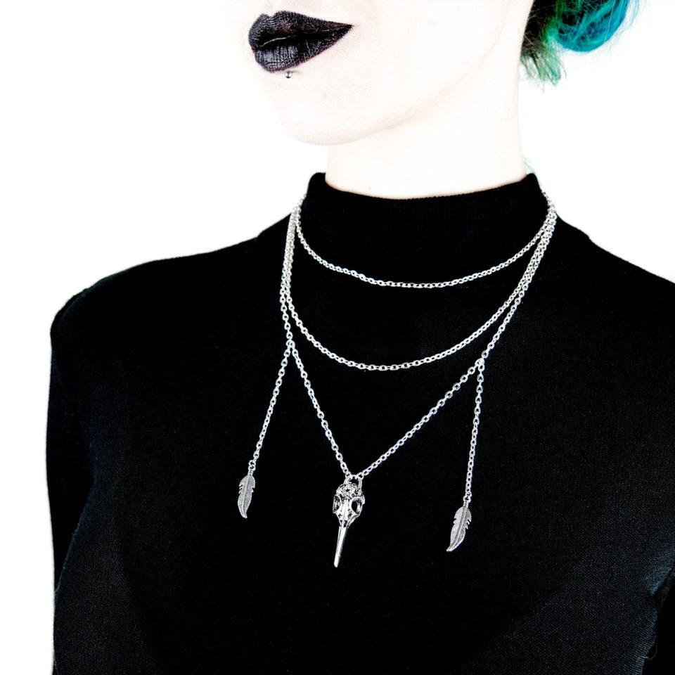 Gothic Halskette Toter Vogel - Gothic Girl