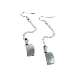 Gothic earrings butcher - product picture