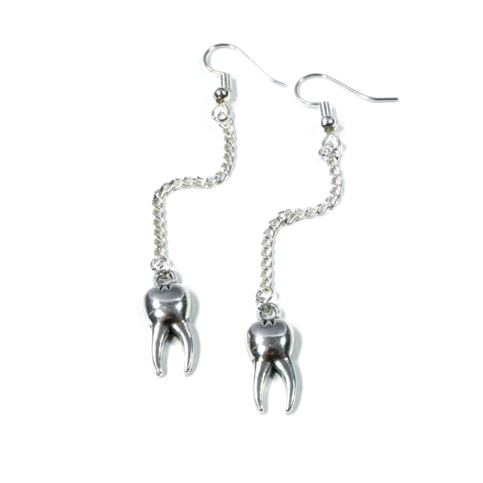 Gothic Ohrringe Zahnfee - Produktbild