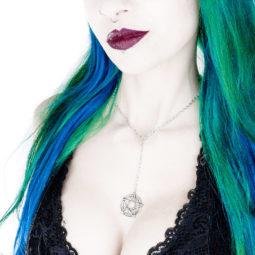 Pentagramm Kette Pentakel - Gothic Girl