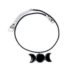 Gothic Halskette Triple Moon- Produktbild