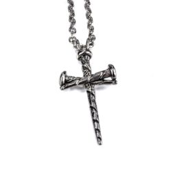 Gothic Cross Necklace Fearless - Zoom