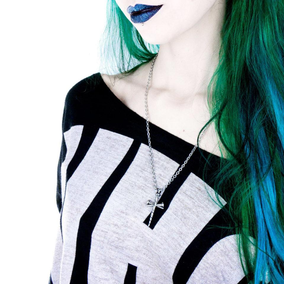 Gothic Kreuz Halskette Fearless - Gothgirl