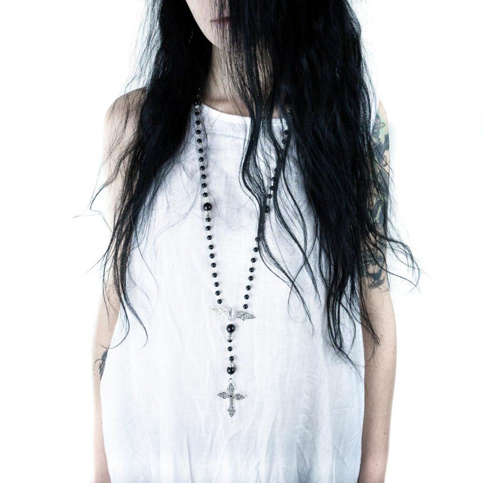 Gothic Rosenkranz Bat Rosary - Gothic Girl