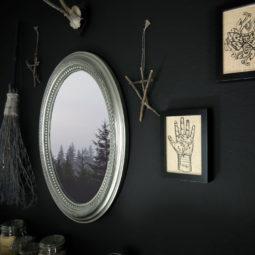 Gothic Deko Bild Leinen - Palmistry