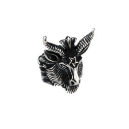 Gothic Ring Baphomet - Zoom