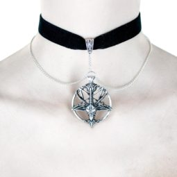 Baphomet Velvet Choker Baphy - product picture