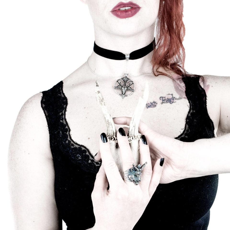 Baphomet Samtchoker Baphy - Gothic Girl