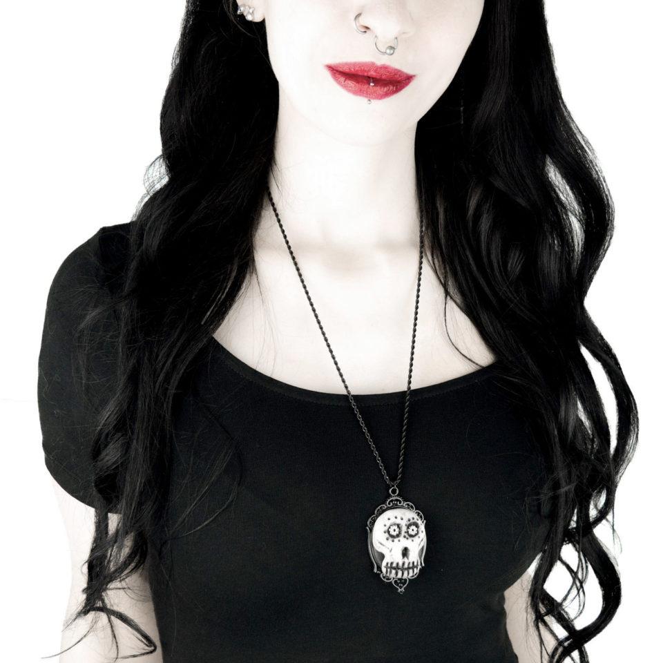 Totenkopf Kette Karl - Gothic Girl