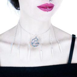 Gothic Pentagramm Halskette More Evil - Goth Girl
