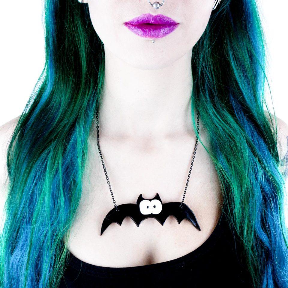 Halskette Spooky Bat - Gothic Girl