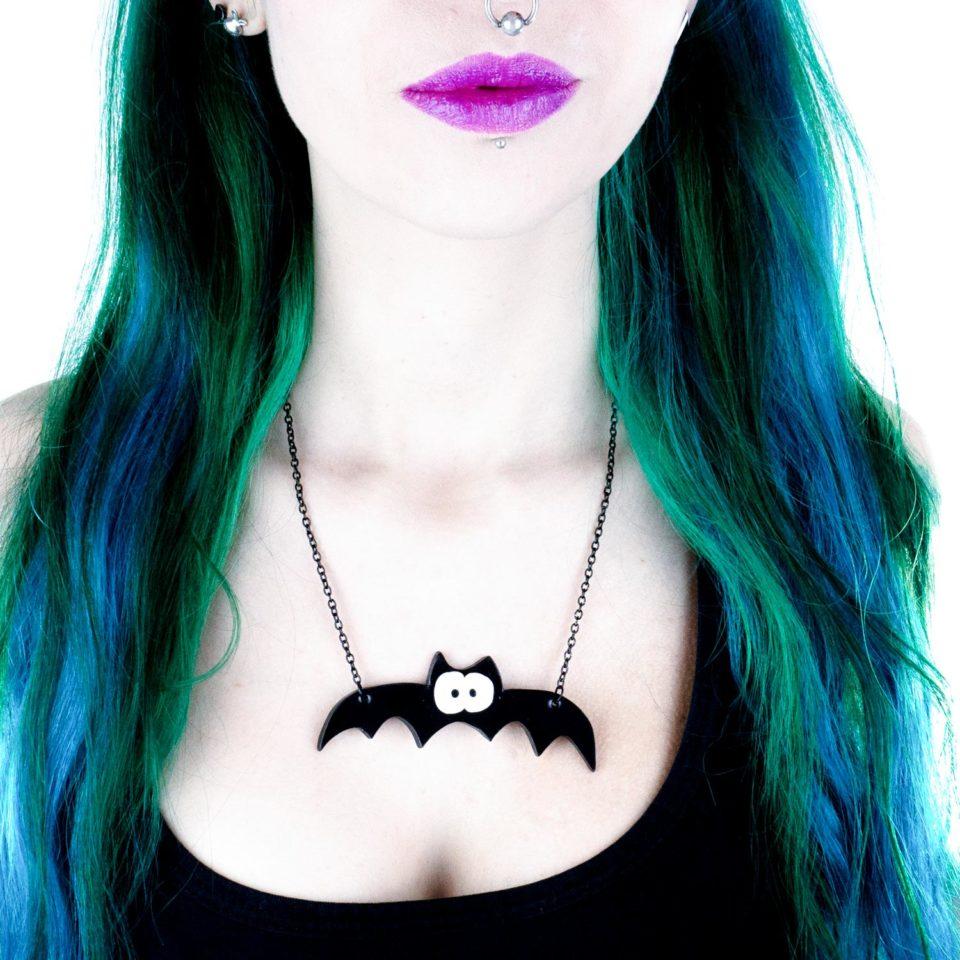 Halskette Spooky Bat klein - Gothic Girl