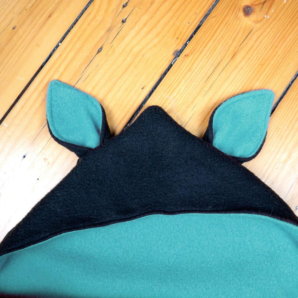 Baby Goth Blanket: Baby Bat Wrap - Hood