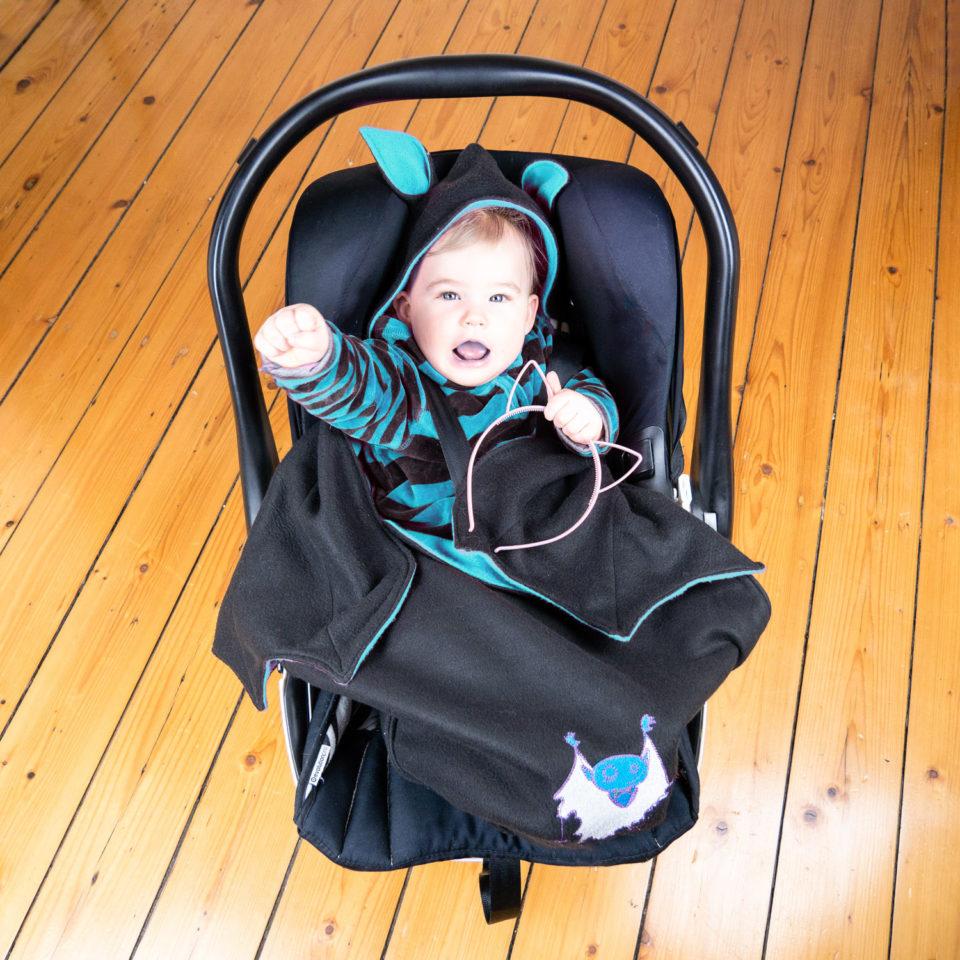 Baby Goth Blanket: Baby Bat Wrap - Baby Bowl