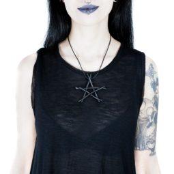Anhänger Drudenfuß Kette - Gothic Girl