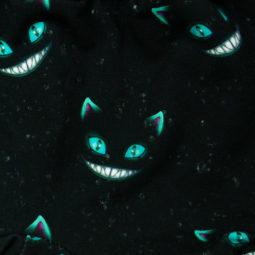 Gothic Baby kurze Pumphose Grinsekatze - Muster