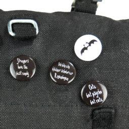 Gothic Button Ich bin ein kleiner schwarzer Regenbogen - Tasche