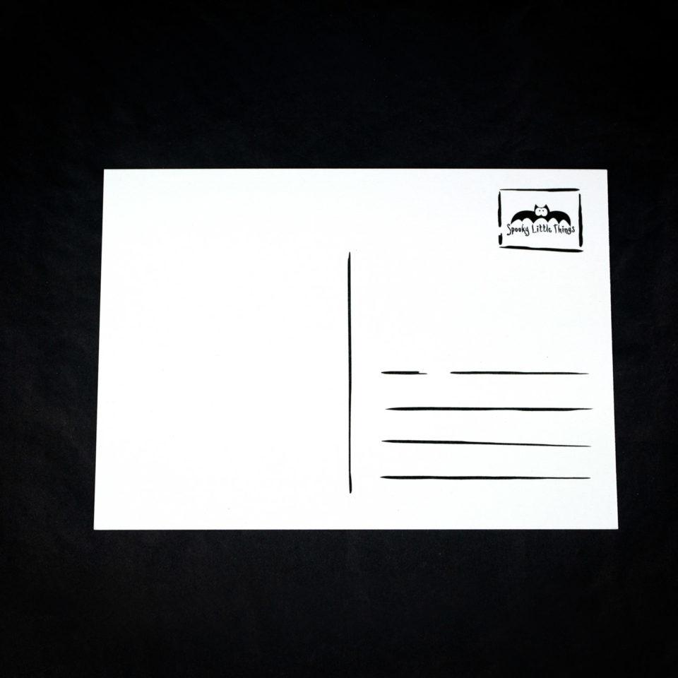 Gothic Postkarte - Rückseite