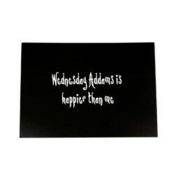 Gothic Postkarte - Wednesday Addams