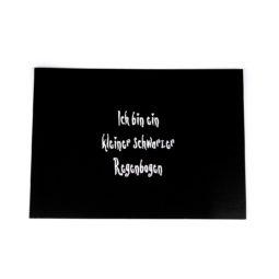 Gothic Postkarte - Kleiner schwarzer Regenbogen