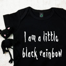 Gothic Baby Body - Black rainbow