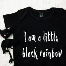Gothic Baby Bodysuit - Black rainbow
