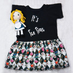 Gothic Kinder Kleid - It's Tea Time