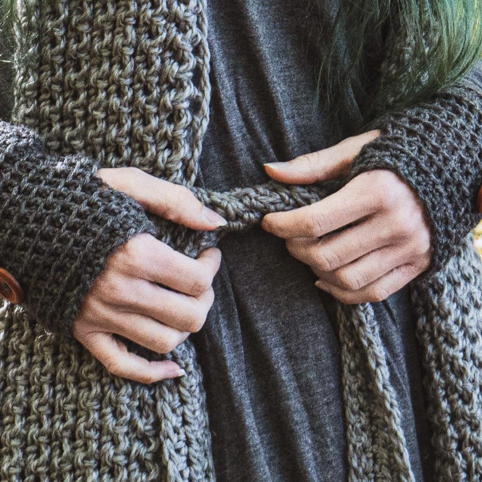 Pagan Woll-Gürtel Garsvir Grey