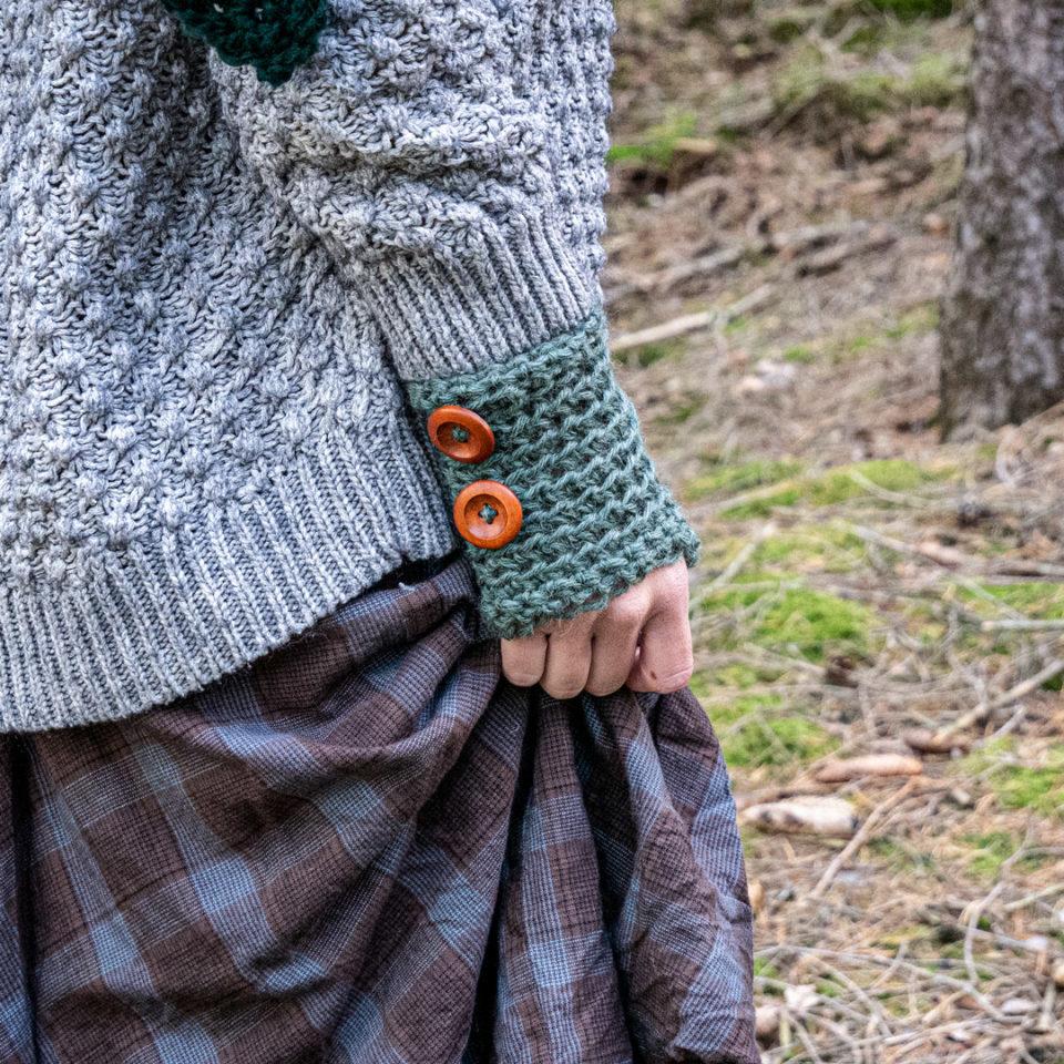 Pagan Woll-Handschuhe Samleren Myrte