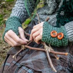 Pagan Wool Gloves Samleren Myrtle