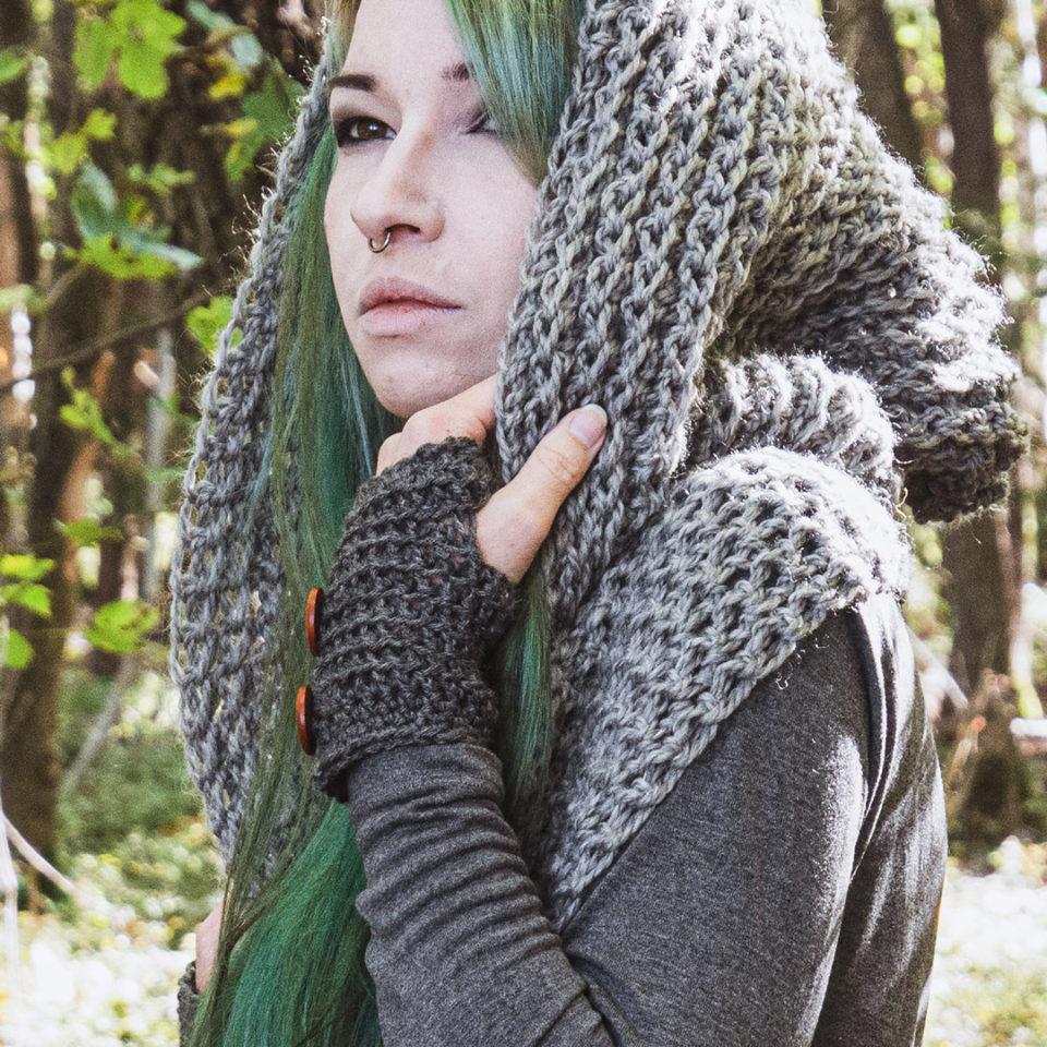 Pagan Woll-Handschuhe Samleren Grau