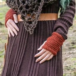 Pagan Woll-Handschuhe Samleren Rotes Ocker