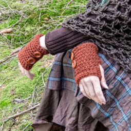 Pagan Wool Gloves Samleren Red Ochre