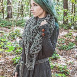 Pagan Wool Scarf Revebjelle - Grey