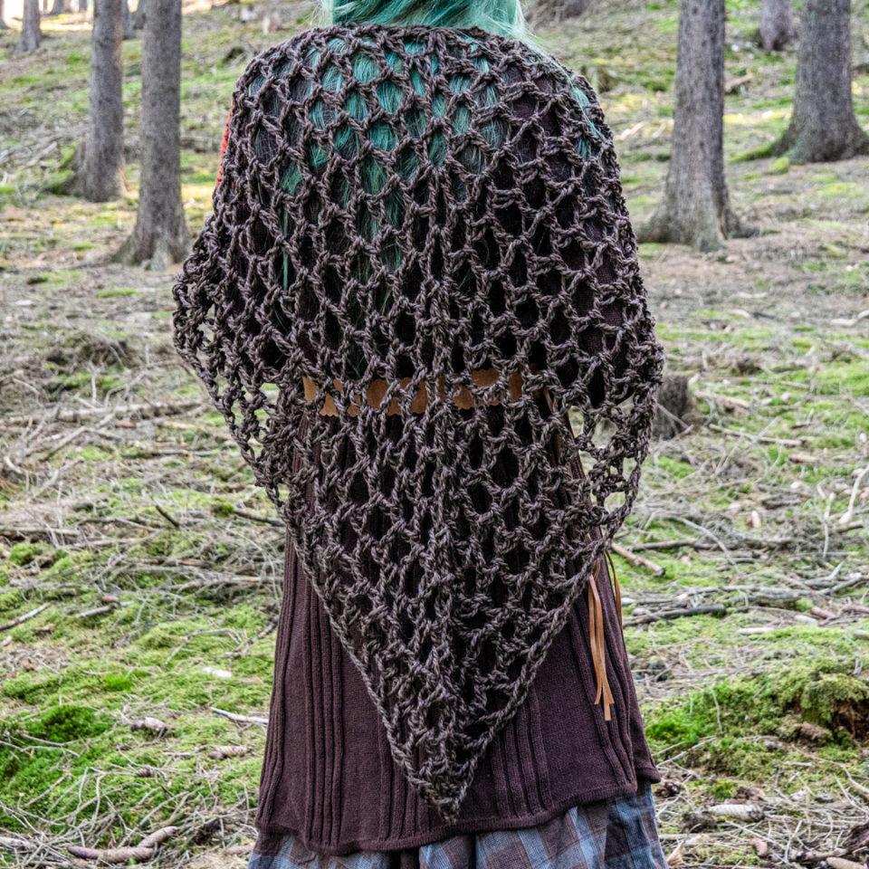 Pagan Woll-Schal Revebjelle - braun