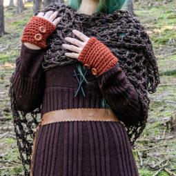 Pagan Wool Scarf Revebjelle - brown