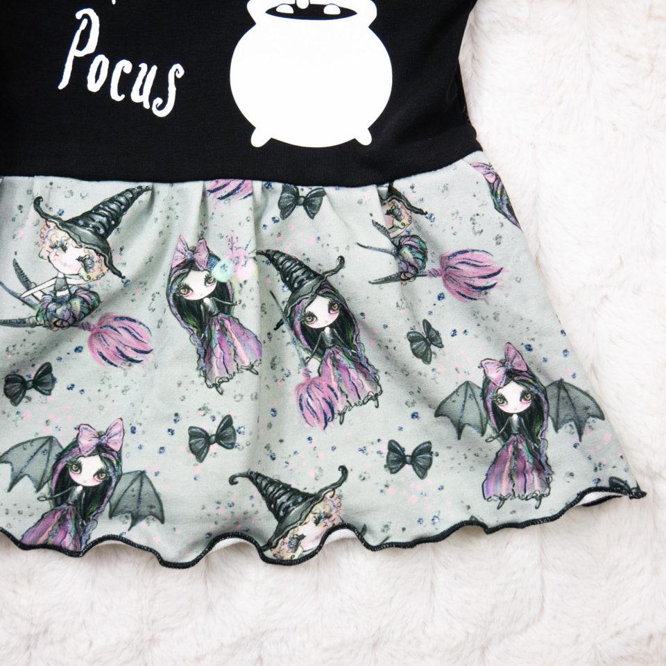 Gothic Kinder Kleid - Hocus Pocus Muster