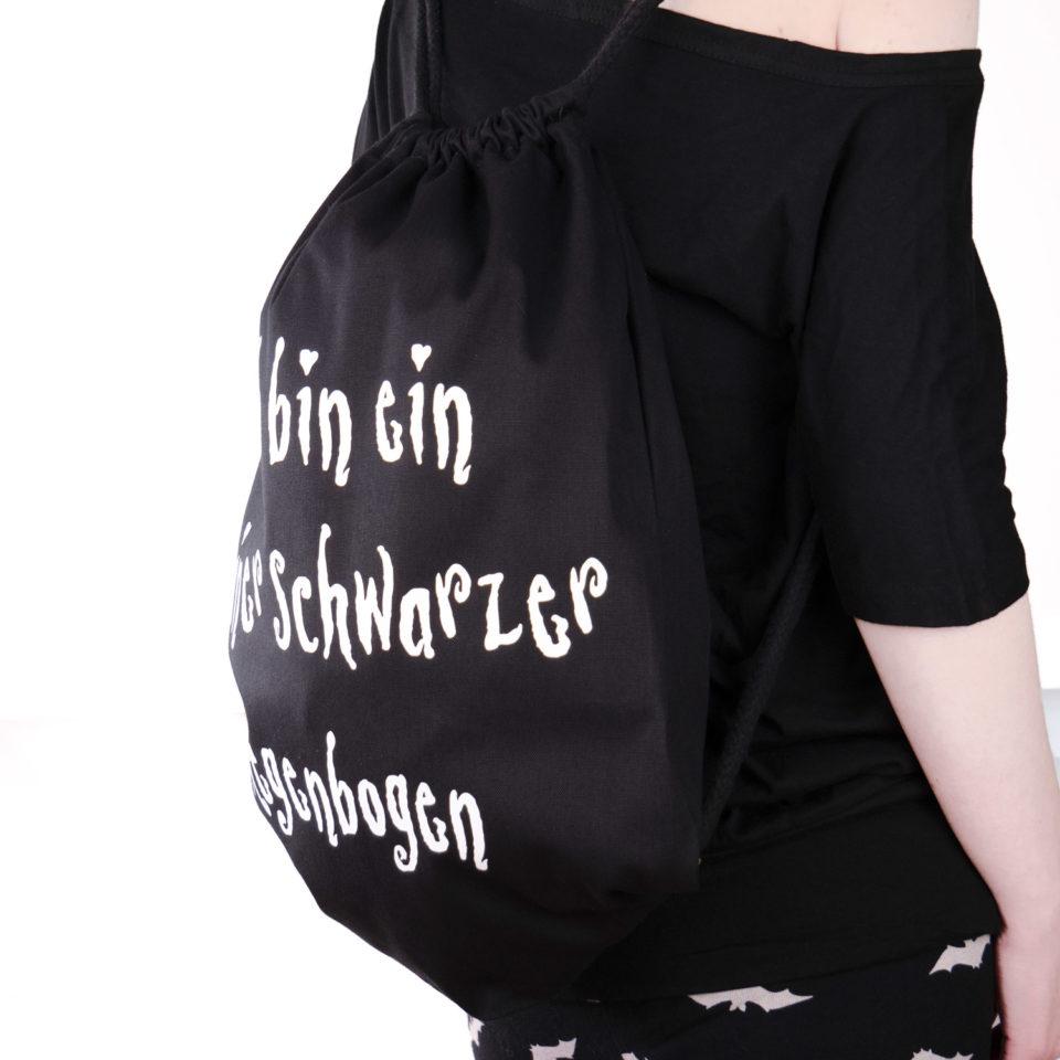 Gothic Beutel Regenbogenbeutel - Gothgirl 3