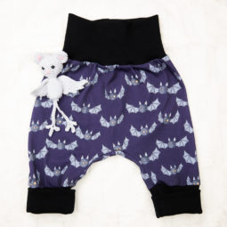 Gothic baby pants - Little bat
