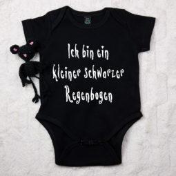 Gothic Baby Body - Kleiner schwarzer Regenbogen