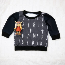 Runic sweater - children's sweater for little vikings