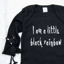 Gothic Baby Body langarm - Black Rainbow