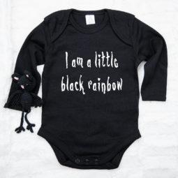 Gothic Baby Body langarm - Black Rainbow