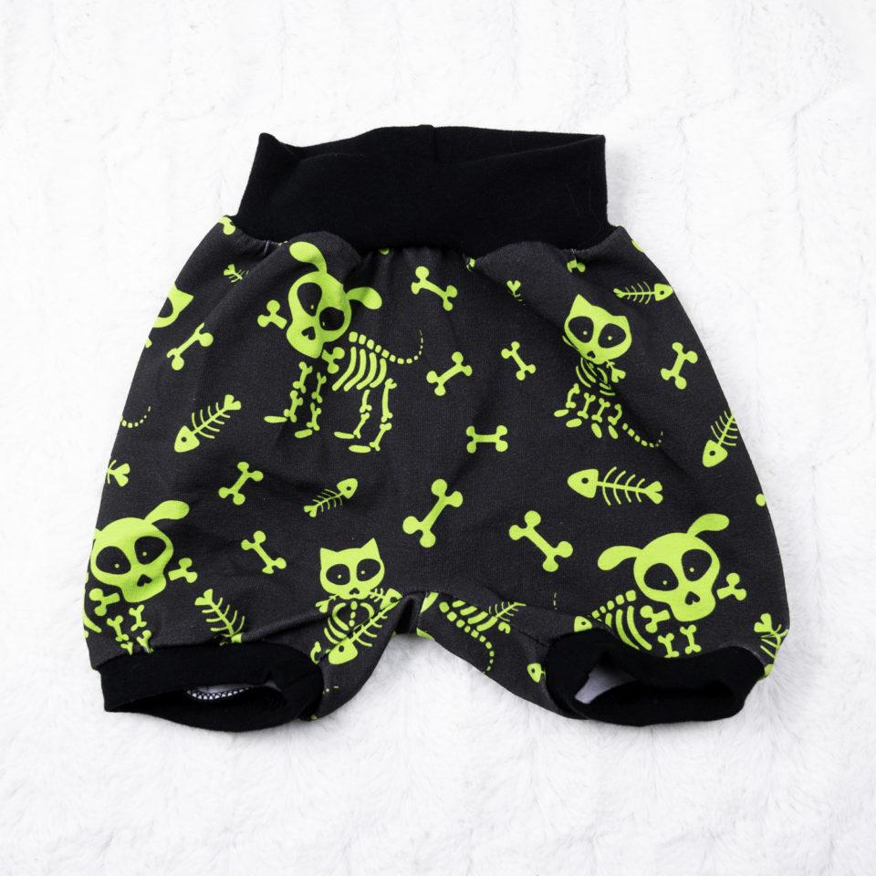 Gothic Baby Kurze Hose Knochentierchen
