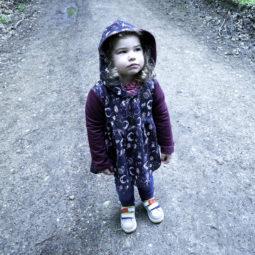 Gothic children's jacket Little Miss Addams - Model