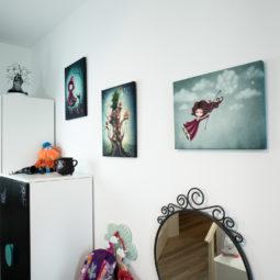 Gothic child's room canvas  - The 7 tree pixies