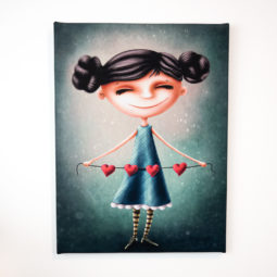 Gothic child's room canvas - Little Heart Collector