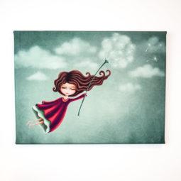 Gothic child's room canvas - Miss Dandelion