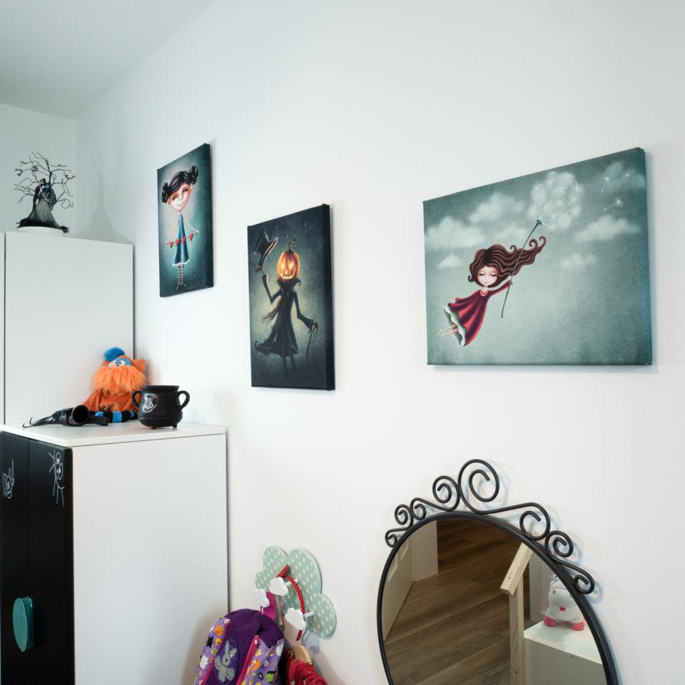 Gothic Kinderzimmerbild - Monsieur Kürbis